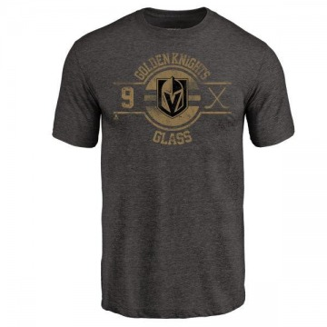 Men's Cody Glass Vegas Golden Knights Insignia Tri-Blend T-Shirt - Black
