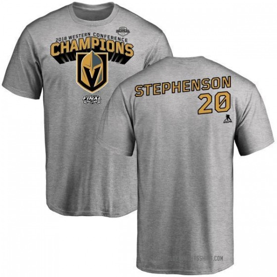 Youth Chandler Stephenson Vegas Golden Knights 2018 Western Conference Champions Long Change T-Shirt - Heather Gray
