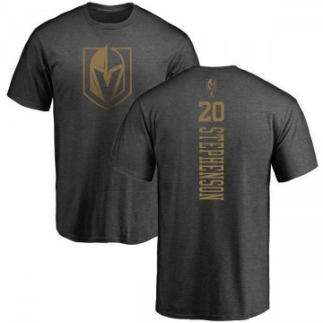 Youth Chandler Stephenson Vegas Golden Knights Charcoal One Color Backer T-Shirt